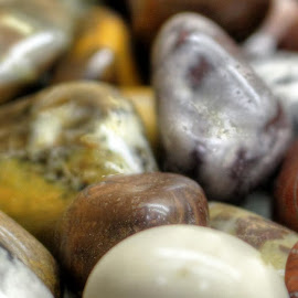Stones by Ernie Kasper - Nature Up Close Rock & Stone ( smooth, colourful, round, stones, shiny )