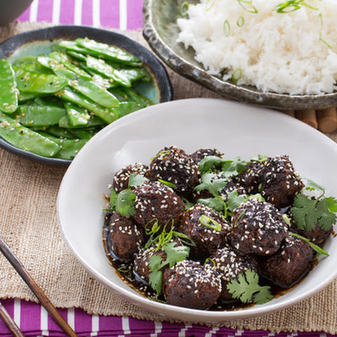 Page asian meatballs on snow peas picks great!!