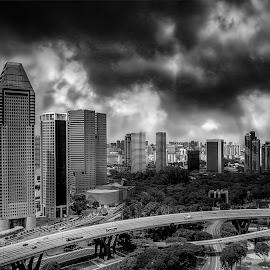 Cloudy by Max Bowen - Buildings & Architecture Bridges & Suspended Structures