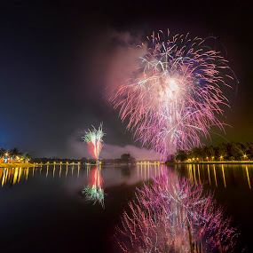 Fireworks Show by Mohammad Khairizal Afendy - Public Holidays New Year's Eve ( eve, new year, event, fireworks, shows, fire )