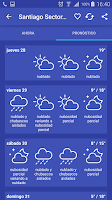 Screenshot of Meteorología Chile