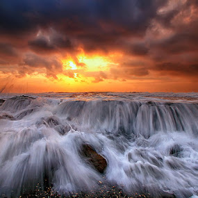 Maliah by Agoes Antara - Landscapes Waterscapes ( water, bali, waterscape, sunset, cloud, stone, rock, sunrise, beach )
