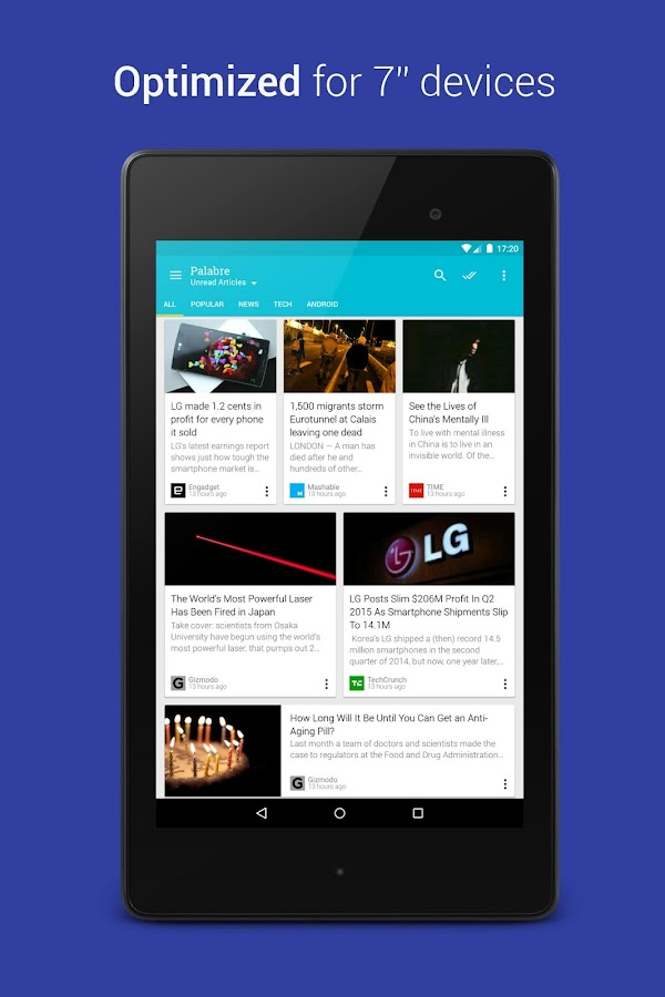 Palabre Feedly RSS Reader News Screenshot 7