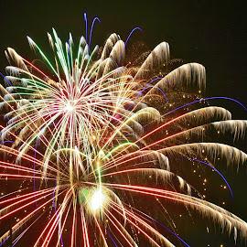 blaze of glory by Debbie Slocum Lockwood - Abstract Fire & Fireworks