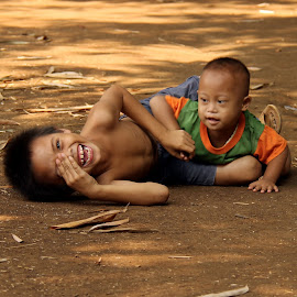 Brothers by Yanti Hadiwijono - Babies & Children Child Portraits