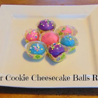 Easter Cookie Cheesecake Balls