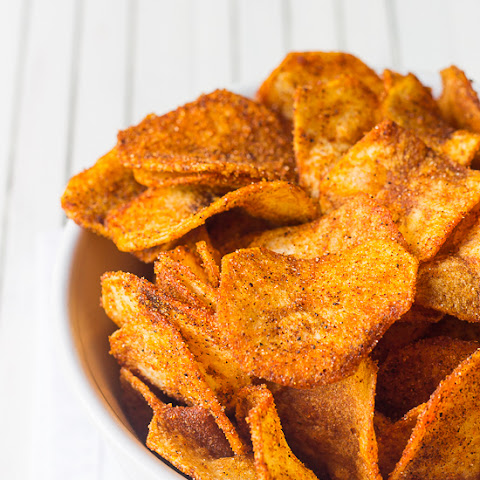 Easy Homemade BBQ Potato Chips.