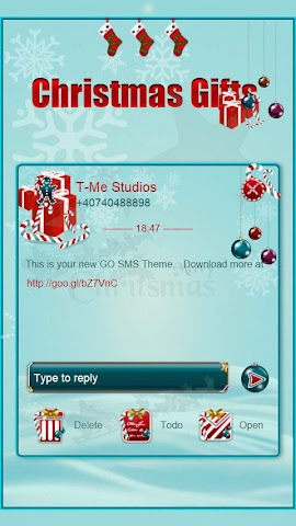 android Christmas Gifts GO SMS Screenshot 0