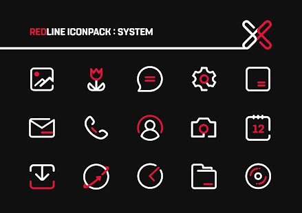 RedLine Icon Pack : LineX