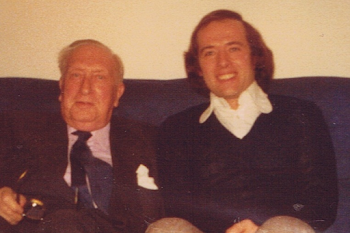 With William Walton, at home, 1974 (2)