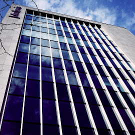 Mirror to the sky by Ross Copson - Buildings & Architecture Other Exteriors ( sky, city life, blue, street, buildings, cityscape, skyscraper, architecture )