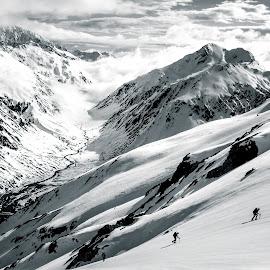 Team B&W by Matthew Robertson - Sports & Fitness Climbing ( southern alps, climbing, mountains, winter, snow,  )