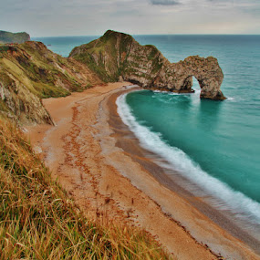 Durdle Dor by Simon Lambert - Landscapes Beaches ( durdle dor, south west, england, cliff, rock formation, beauty, coast )