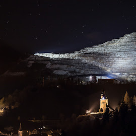 Erzberg Barbarabeleuchtung by Geralf Hambammer - Landscapes Mountains & Hills