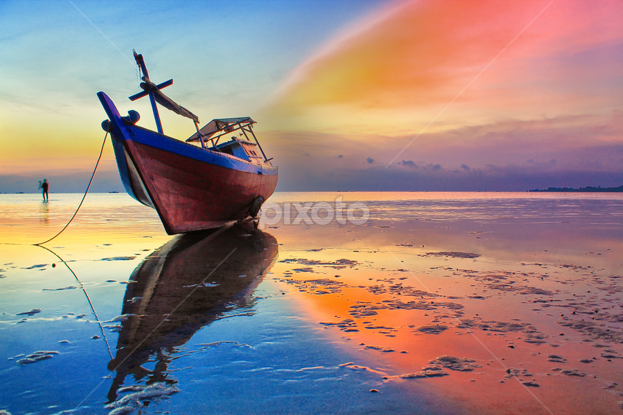 Rainbow Wings by Deni Agusti - Transportation Boats