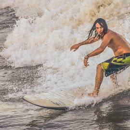 Surfer by Prentiss Findlay - Sports & Fitness Surfing ( surfer, waves, ocean, surfing, beach )
