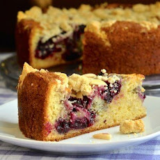 Cherry Swirl Almond Crumble Coffee Cake