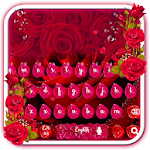 Beautiful Red Rose petals Keyboard Icon
