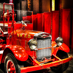 by Paul Bélair - Transportation Other ( montreal west fire département, fire truck, bickle )