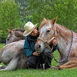 Horse Whispering by Twin Wranglers Baker - People Street & Candids ( appaloosa horses, horses, horse whispering, horse, appaloosa, appaloosas,  )