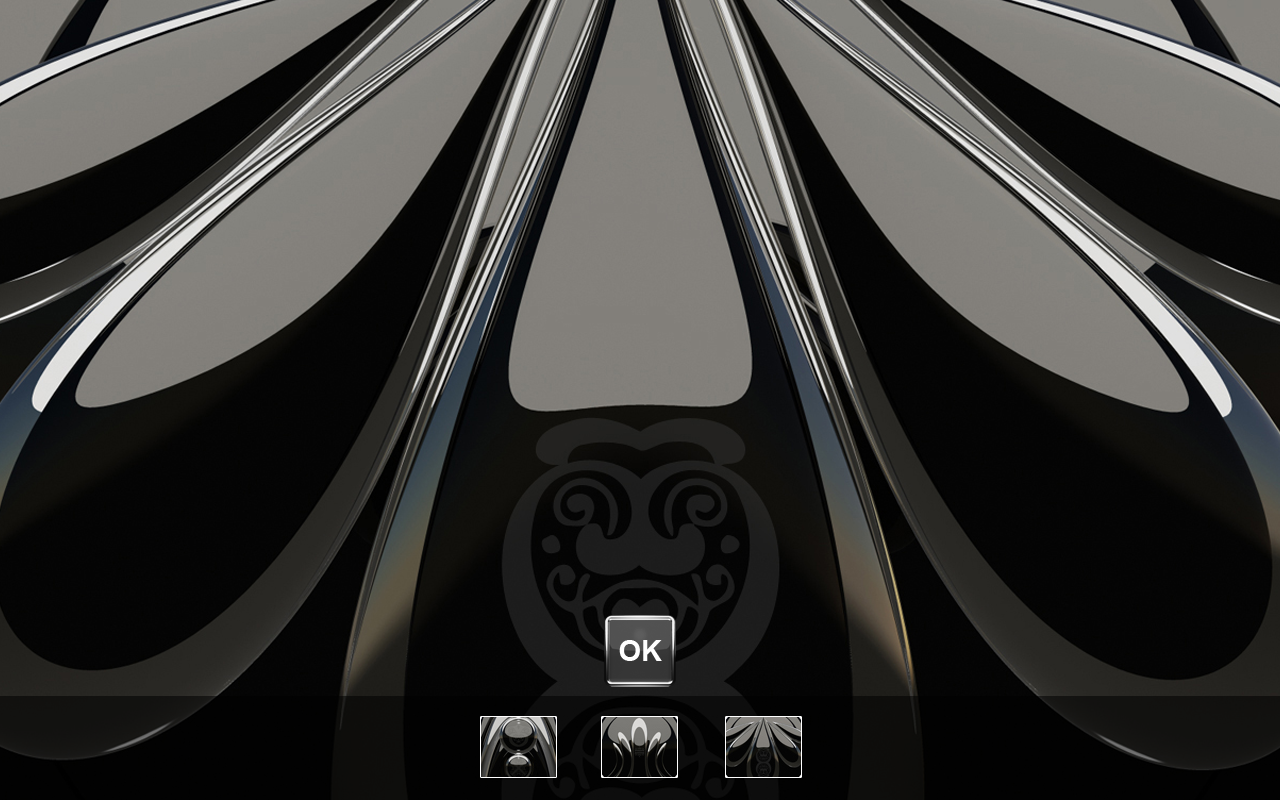 Black S Next Launcher theme Screenshot 3
