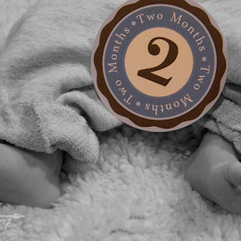 Two months by Rebecca McLachlan - Babies & Children Hands & Feet ( sign, two, foot, baby, skin )