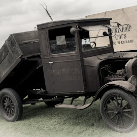 Old Timer by Debb Rooken-Smith - Transportation Automobiles ( car, england, truck, marsworth, american, show, tipper, rust, ford )