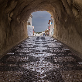 Tunnel, Albufeira, Portugal by Rick McEvoy - Buildings & Architecture Other Exteriors ( www.rickmcevoyphotography.co.uk, professional photographer, rick mcevoy, architectural photographer, portugal, tunnel )