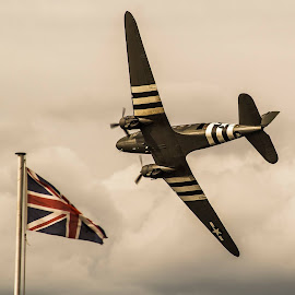 Dakota by Gordon Bain - Transportation Airplanes ( dakota, wingspan, power, low flying, union jack )