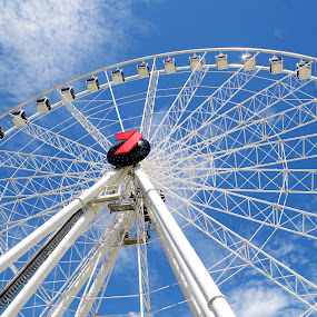 Sky wheel by Carolyn Lawson - Buildings & Architecture Bridges & Suspended Structures