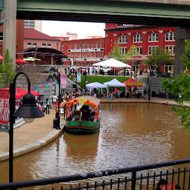 Canal Walk by Maritza Féliz - City,  Street & Park  City Parks ( water, colorful, boat, people, canal )