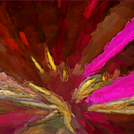 Playing with Paint by Kittie Groenewald - Abstract Patterns