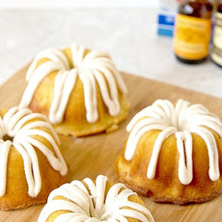 Mini Creamsicle Bundt Cake with Vanilla Bean Glaze