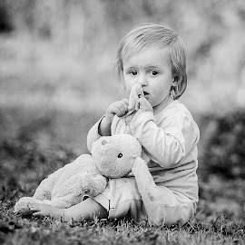 B&W Bunny by Kate de Pinna - Black & White Portraits & People