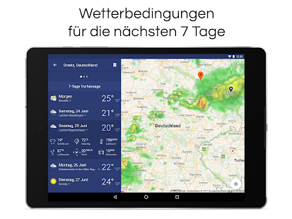 Wettervorhersage & Radar Screenshot