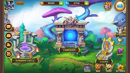 Game Idle Heroes apk for kindle fire