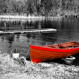 Row Boat by Peter Jarvis - Digital Art Places ( water, craft, lake, lough, landscape, boat )