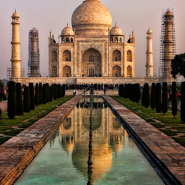 Taj Mahal by Richard Kam - Buildings & Architecture Statues & Monuments ( tombs, taj mahal, agra, india, monument, historic )
