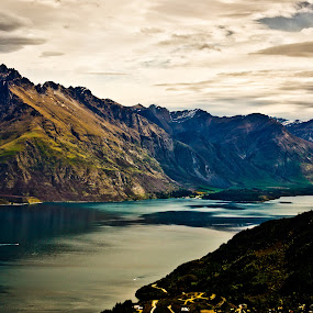 NZ Queenstown by Karissa Best - Landscapes Mountains & Hills ( water, queenstown, mountains, otago, beautiful, newzealand, southland )