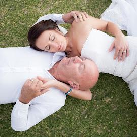 by Roxanne Wentzel - Wedding Bride & Groom