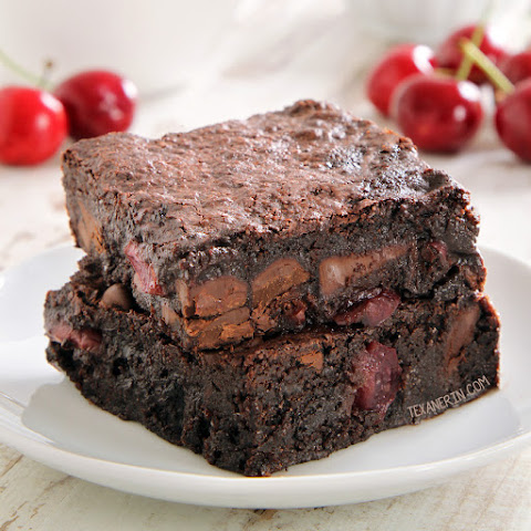Chocolate Cherry Brownies (gluten-free, dairy-free, whole grain options)