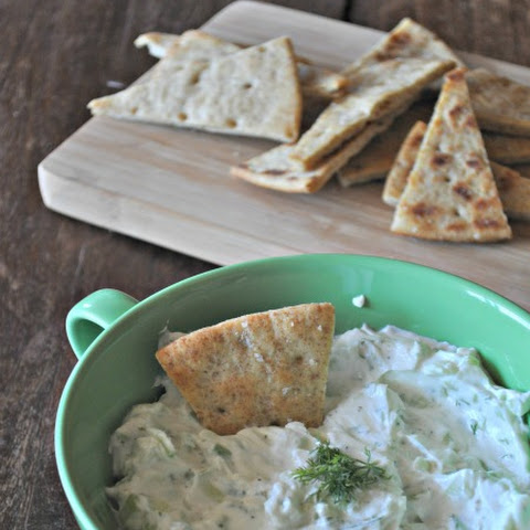 Cucumber-Yogurt Dip with Dill & Lemon