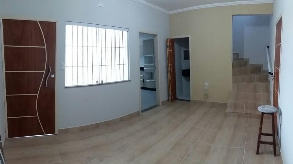 Sobrado com 2 dormitórios à venda, 80 m² por R$ 350.000,00 - Vila Guilhermina - Praia Grande/SP