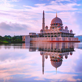 Putra Mosque in Putrajaya by Jacky Photography - Buildings & Architecture Places of Worship ( putrajaya, putra mosque, reflections, lake,  )