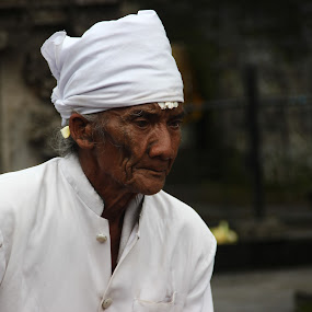 Balinese Priest by Krisna Pillay - People Portraits of Men ( bali )