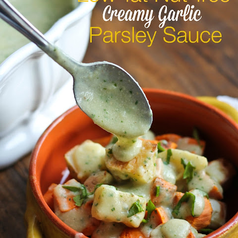 Low-fat Nut-free Creamy Garlic Parsley Sauce