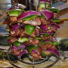 kabobs before by Walter Richardson - Food & Drink Cooking & Baking ( main course, food, appetizer, smoked, grilled )