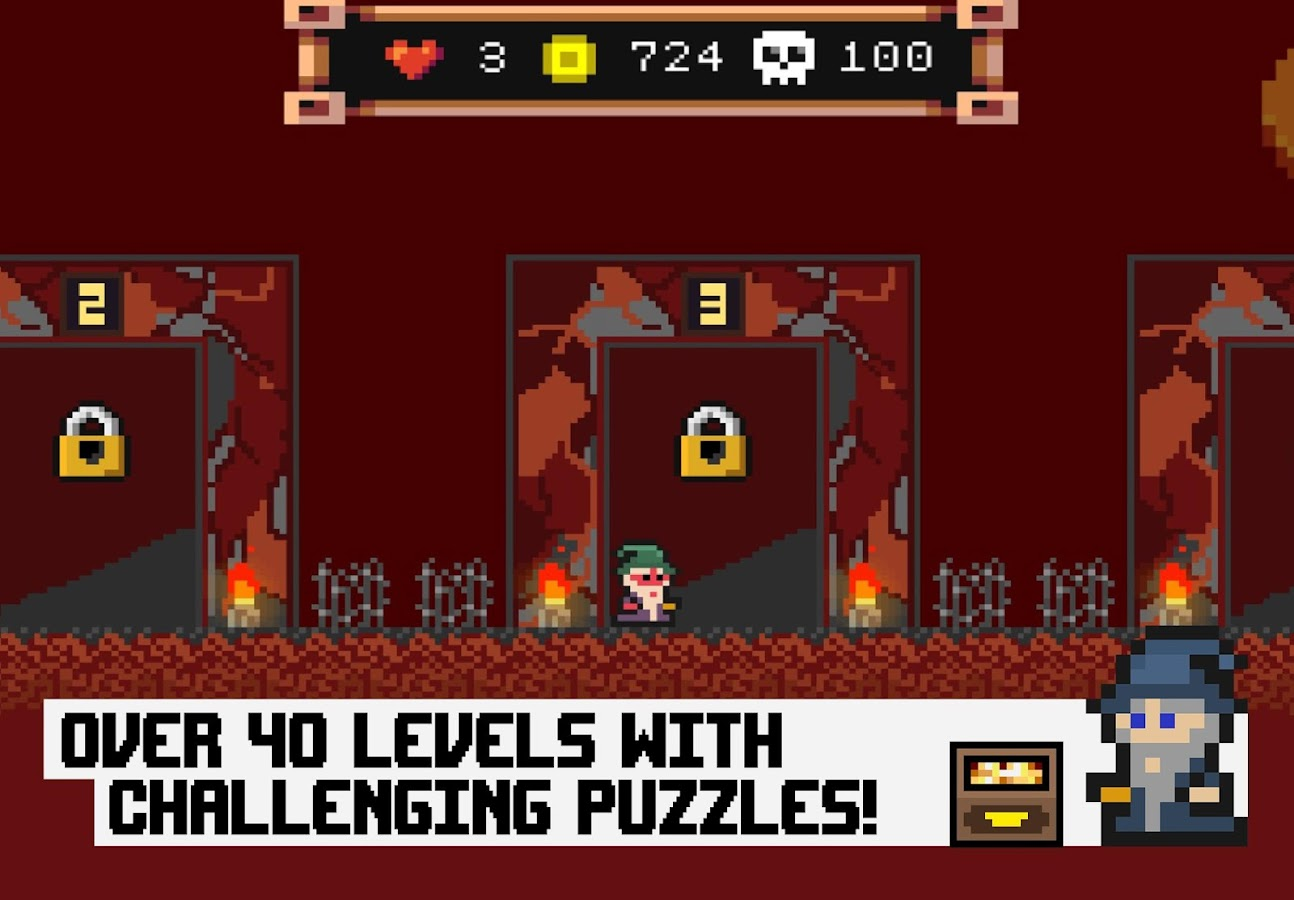 Pixel Wizard Adventures 2D Screenshot 2