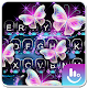Glitter Neon Purple Butterfly Keyboard Theme APK