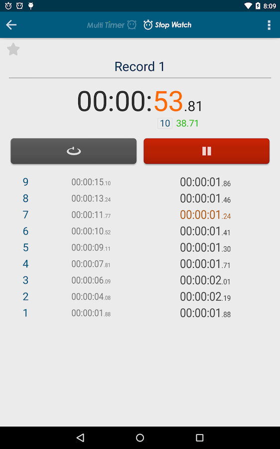 Multi Timer StopWatch Screenshot 19